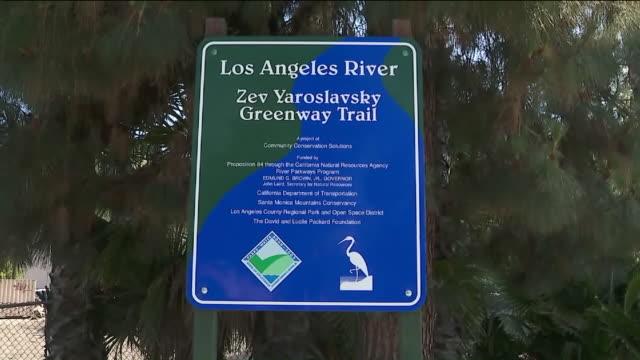ktla riverwalk from studio city to sherman oaks - sherman oaks stock videos & royalty-free footage