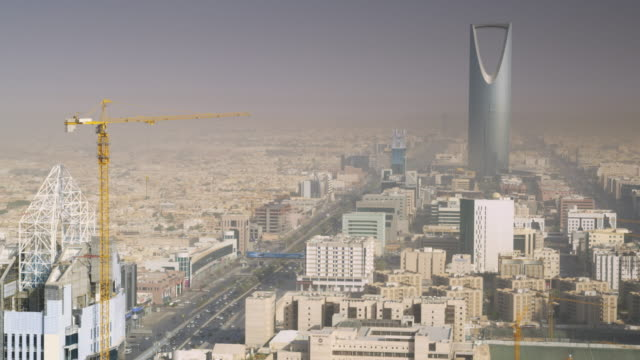 riyadh city centre, saudi arabia. - saudi arabia stock videos and b-roll footage