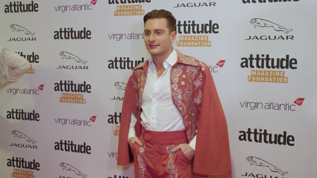 riyadh khalaf attends the virgin atlantic attitude awards 2021 at the roundhouse on october 06, 2021 in london, england. - attitude stock videos & royalty-free footage