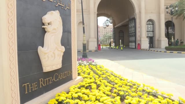 vídeos de stock, filmes e b-roll de riyadh's ritz carlton reopened for business sunday three months after it became a holding place for princes and ministers detained in the biggest... - ritz carlton hotel