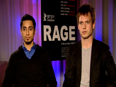 Riz Ahmed and Patrick J Adams on how difficult they found the monologues at the 59th Berlin Film Festival Rage Interviews at Berlin