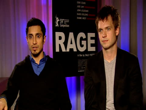 Riz Ahmed and Patrick J Adams on what their reaction was to the script at the 59th Berlin Film Festival Rage Interviews at Berlin