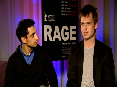 Riz Ahmed and Patrick J Adams on whether they practised in the mirror at the 59th Berlin Film Festival Rage Interviews at Berlin