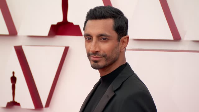 riz ahmed at the 93rd annual academy awards - arrivals on april 25, 2021. - academy awards stock videos & royalty-free footage
