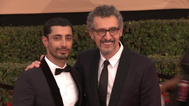 riz ahmed, john turturro at 23rd annual screen actors guild awards - arrivals in los angeles, ca 1/29/17 - screen actors guild stock videos & royalty-free footage