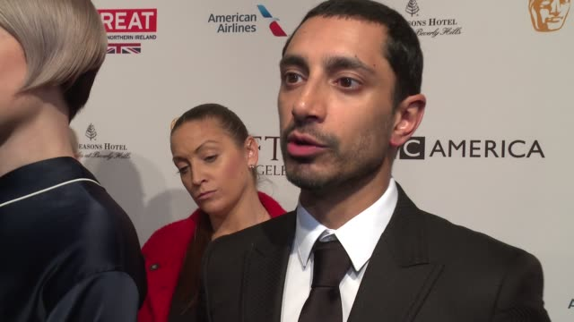 interview riz ahmed on what he's excited about at the bafta awards season tea party on awards season at 2017 bafta los angeles awards season tea... - tea party stock videos and b-roll footage
