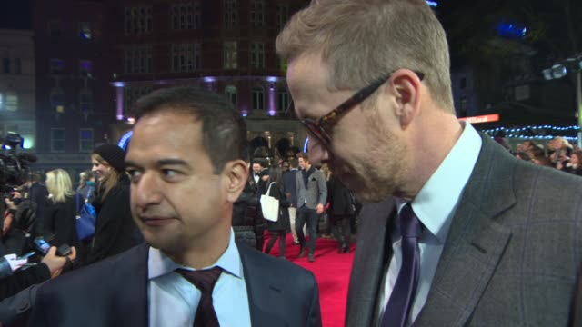 INTERVIEW Riza Aziz Joey McFarland on the film being nominated for a BAFTA the interest in the film at 'The Wolf of Wall Street' UK film premiere at...