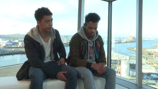 rizzle kicks on their up and coming tour being excited about performing and seeing crowds at mtv titanic soundson april 13 2012 in belfast northern... - titanic belfast stock videos & royalty-free footage
