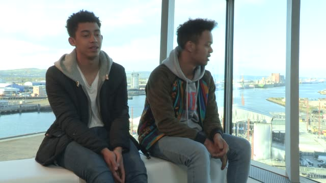rizzle kicks on titanic belfast the crowds in belfast katy b looking forward to playing mtv titanic sounds on april 13 2012 in belfast northern... - titanic belfast stock videos & royalty-free footage