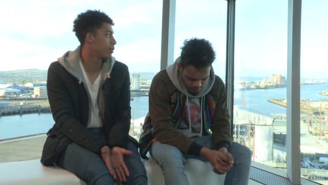 rizzle kicks on what it means to play at the event at mtv titanic sounds on april 13 2012 in belfast northern ireland - titanic belfast stock videos & royalty-free footage