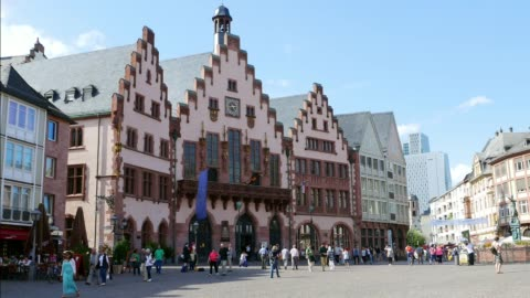 römer building in frankfurt am main - town square stock videos & royalty-free footage