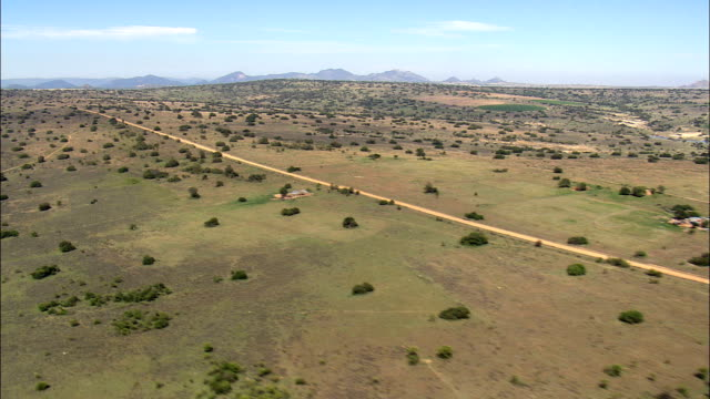 road across veldt - Aerial View - Limpopo,  Capricorn District Municipality,  Polokwane,  South Africa