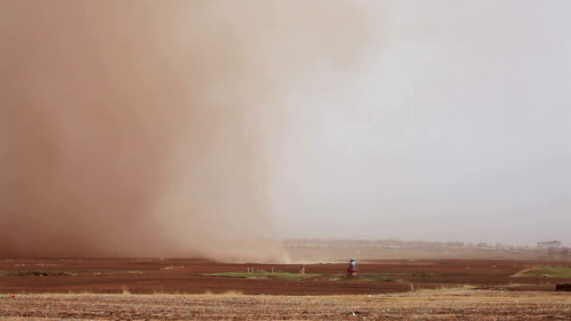 road and desert storm in gansu province, china - dust storm stock videos & royalty-free footage