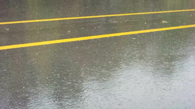 Strada e pioggia