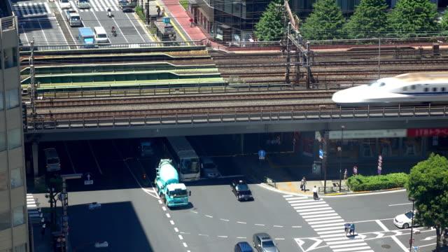 Road and train bridge -4K-