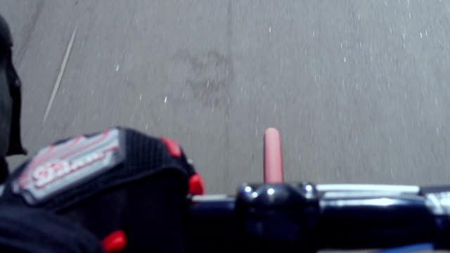Road bicycle handlebar during the ride