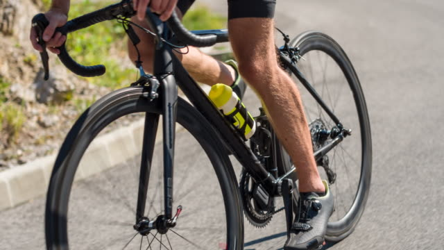 road bike detail - sportsperson stock videos & royalty-free footage