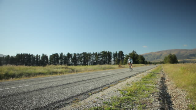 road biker and landscape - new zealand stock videos & royalty-free footage