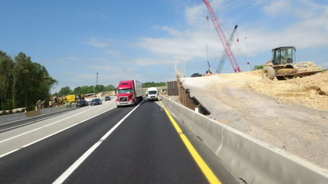 road construction of in tennessee, usa ( no audio ) - american interstate stock videos & royalty-free footage