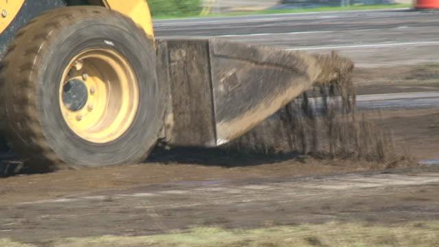 road construction - bulldozer stock-videos und b-roll-filmmaterial