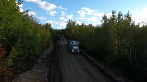 vídeos y material grabado en eventos de stock de road construction - carretera de tierra