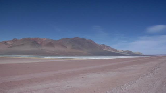 WS PAN Road crossing desert landscape, San Pedro de Atacama, El Loa, Chile