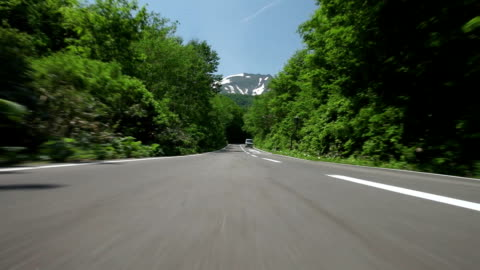 road in a green forest - satoyama scenery stock videos & royalty-free footage