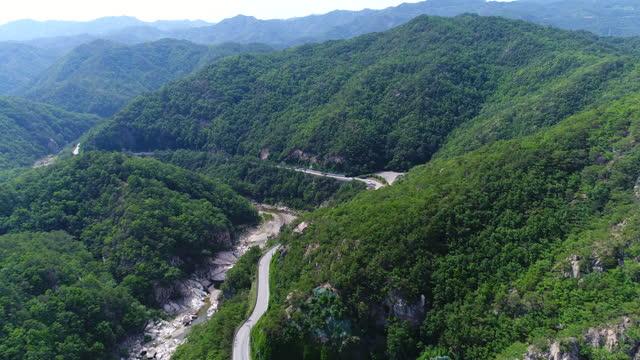 road in buryeonggyegok valley (gyeongbuk donghaean geopark) / uljin-gun, gyeongsangbuk-do, south korea - eco tourism stock videos & royalty-free footage