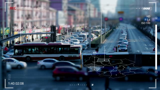 road monitoring - animation moving image stock videos & royalty-free footage