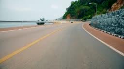 road near beach