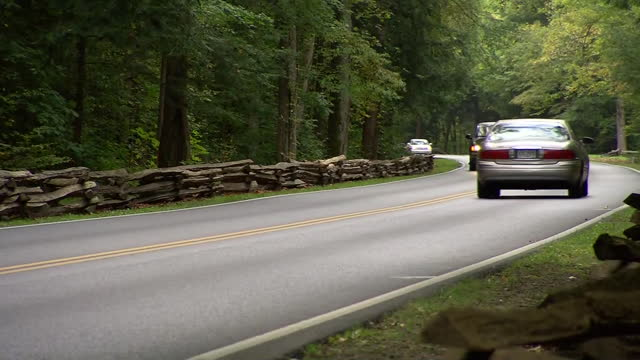 stockvideo's en b-roll-footage met a road near gatlinburg tennessee is seen during the 2013 government shutdown - united states and (politics or government)
