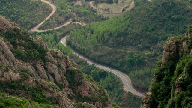 Road near Montserrat Mountain, Catalonia, Spain