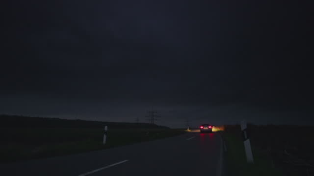crane up: road night - country road stock videos & royalty-free footage