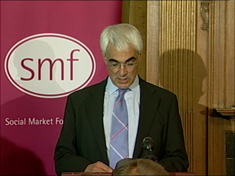 road pricing plans unveiled; london int alistair darling mp press conference sot - our objective is not to put people off the roads/ our objective is... - fx network stock videos & royalty-free footage