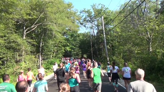 road race on quiet country road