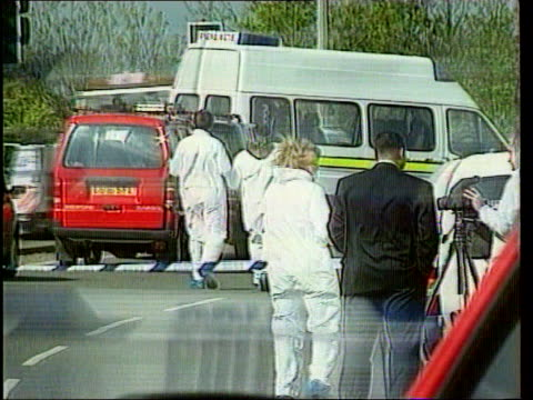 road rage murder kenneth noye extradition lib police at scene of stephen cameron's murder in a road rage attack cameron's red van - kenneth noye stock videos & royalty-free footage