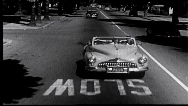 vídeos de stock, filmes e b-roll de 1952 - road runners 1 of 11 - hot rod