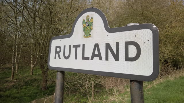 road sign for the county of rutland england uk - identity politics stock videos & royalty-free footage