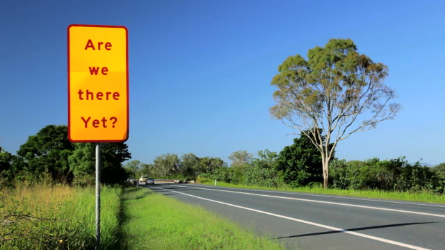 road sign in anticipation, queensland, australia, southern hemisphere, time lapse - southern hemisphere stock videos & royalty-free footage