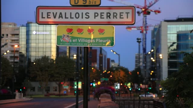a road sign marks the entry to levallois perret in paris suburb on july 29 2020 the town of levallois perret is one of the municipalities in france... - generic location stock videos & royalty-free footage