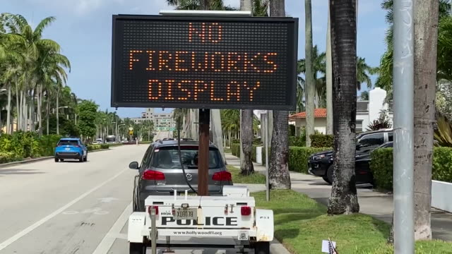 road sign reading beach closed july 3rd to july 5th and no fireworks display. - hollywood florida stock videos & royalty-free footage