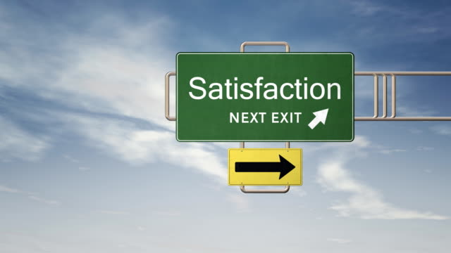 HD Road Sign Series - SATISFACTION
