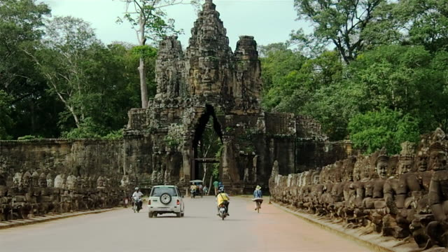 road to bayon - stone material stock videos & royalty-free footage