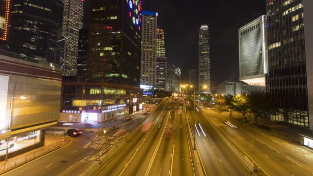 vidéos et rushes de route de laps de temps pour le quartier central des affaires - île de hong kong