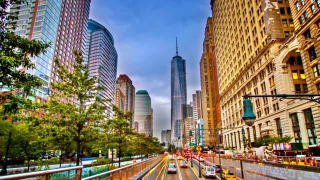 road to freedom tower. - 2013 stock videos and b-roll footage