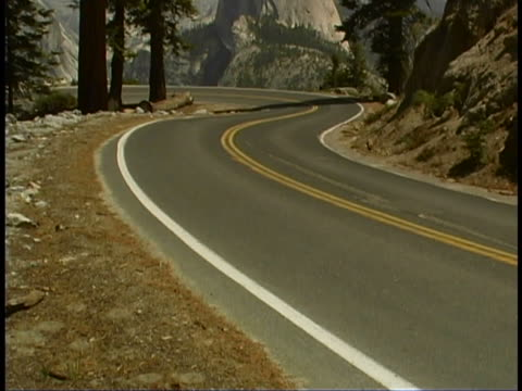 road to half dome - half dome stock videos & royalty-free footage