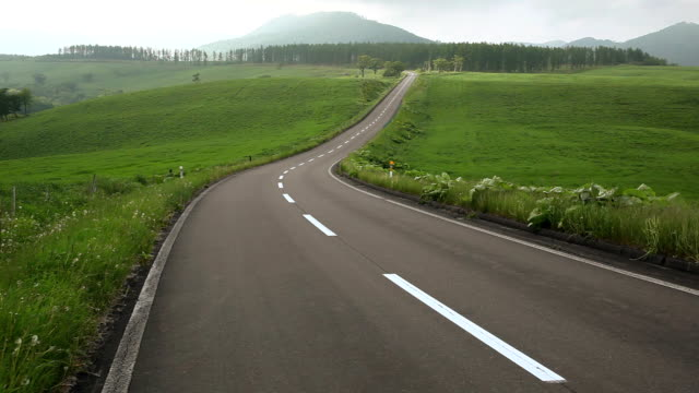 road to mountain. - satoyama scenery stock videos & royalty-free footage