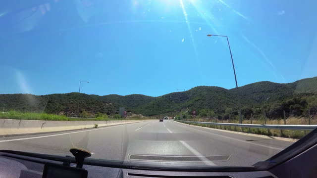 road trip cinamatograph - car point of view stock videos & royalty-free footage