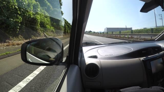 日本でのロードトリップタイムラプス - フロントガラス点の映像素材/bロール