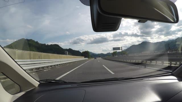 vidéos et rushes de road trip au japon - pare brise